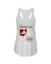VIRGINIA GIRL LIVING IN OHIO WORLD Ladies Flowy Tank thumbnail