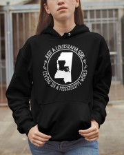 LOUISIANA GIRL LIVING IN MISSISSIPPI WORLD Hooded Sweatshirt apparel-hooded-sweatshirt-lifestyle-07