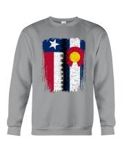 LIVING IN COLORADO WITH  TEXAS ROOTS Crewneck Sweatshirt thumbnail