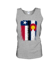 LIVING IN COLORADO WITH  TEXAS ROOTS Unisex Tank thumbnail