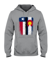 LIVING IN COLORADO WITH  TEXAS ROOTS Hooded Sweatshirt thumbnail