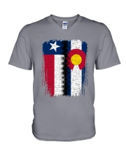 LIVING IN COLORADO WITH  TEXAS ROOTS V-Neck T-Shirt thumbnail