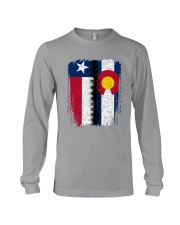 LIVING IN COLORADO WITH  TEXAS ROOTS Long Sleeve Tee thumbnail