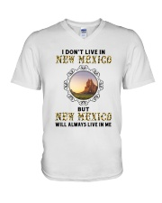 NEW MEXICO WILL ALWAYS LIVE IN ME V-Neck T-Shirt thumbnail