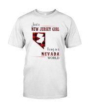 JERSEY GIRL LIVING IN NEVADA WORLD Classic T-Shirt front