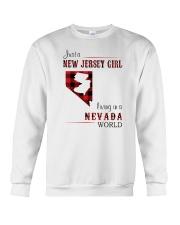 JERSEY GIRL LIVING IN NEVADA WORLD Crewneck Sweatshirt thumbnail