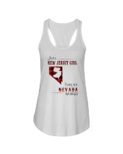JERSEY GIRL LIVING IN NEVADA WORLD Ladies Flowy Tank thumbnail