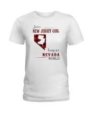 JERSEY GIRL LIVING IN NEVADA WORLD Ladies T-Shirt thumbnail