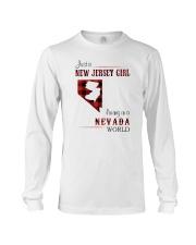 JERSEY GIRL LIVING IN NEVADA WORLD Long Sleeve Tee thumbnail