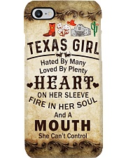 TEXAS GIRL A MOUTH SHE CAN'T CONTROL Phone Case i-phone-7-case