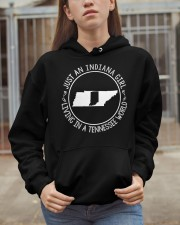 INDIANA GIRL LIVING IN TENNESSEE WORLD Hooded Sweatshirt apparel-hooded-sweatshirt-lifestyle-07