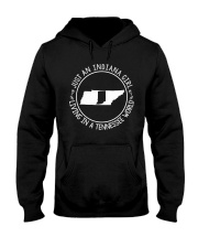 INDIANA GIRL LIVING IN TENNESSEE WORLD Hooded Sweatshirt front