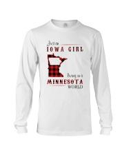 IOWA GIRL LIVING IN MINNESOTA WORLD Long Sleeve Tee thumbnail