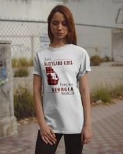 MARYLAND GIRL LIVING IN GEORGIA WORLD Classic T-Shirt apparel-classic-tshirt-lifestyle-18