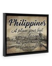 PHILIPPINES A PLACE YOUR HEART REMAINS 14x11 Black Floating Framed Canvas Prints thumbnail
