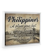 PHILIPPINES A PLACE YOUR HEART REMAINS 14x11 White Floating Framed Canvas Prints thumbnail