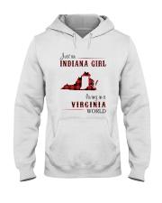 INDIANA GIRL LIVING IN VIRGINIA WORLD Hooded Sweatshirt thumbnail