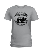 MADE IN OKLAHOMA A LONG TIME AGO Ladies T-Shirt thumbnail
