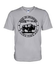 MADE IN OKLAHOMA A LONG TIME AGO V-Neck T-Shirt thumbnail