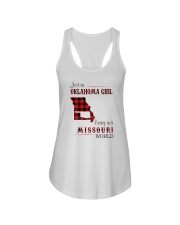 OKLAHOMA GIRL LIVING IN MISSOURI WORLD Ladies Flowy Tank thumbnail