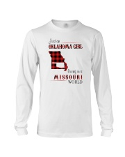 OKLAHOMA GIRL LIVING IN MISSOURI WORLD Long Sleeve Tee thumbnail