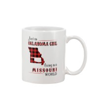 OKLAHOMA GIRL LIVING IN MISSOURI WORLD Mug tile