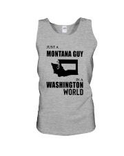 JUST A MONTANA GUY IN A WASHINGTON WORLD Unisex Tank thumbnail
