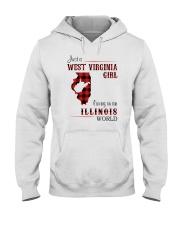 WEST VIRGINIA GIRL LIVING IN ILLINOIS WORLD Hooded Sweatshirt thumbnail