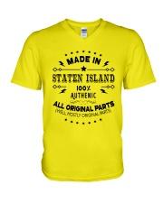 MADE IN STATEN ISLAND  V-Neck T-Shirt thumbnail