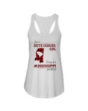 SOUTH CAROLINA GIRL LIVING IN MISSISSIPPI WORLD Ladies Flowy Tank thumbnail