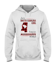 SOUTH CAROLINA GIRL LIVING IN MISSISSIPPI WORLD Hooded Sweatshirt thumbnail