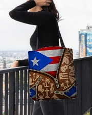 PUERTO RICO TEXTURE FLAG SYMBOLS All-over Tote aos-all-over-tote-lifestyle-front-05