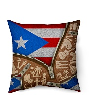 "PUERTO RICO TEXTURE FLAG SYMBOLS Indoor Pillow - 16"" x 16"" thumbnail"