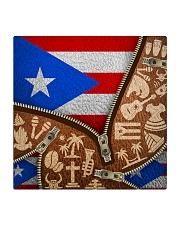 PUERTO RICO TEXTURE FLAG SYMBOLS Square Coaster thumbnail
