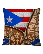 PUERTO RICO TEXTURE FLAG SYMBOLS Square Pillowcase thumbnail