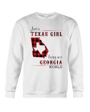 TEXAS GIRL LIVING IN GEORGIA WORLD Crewneck Sweatshirt thumbnail