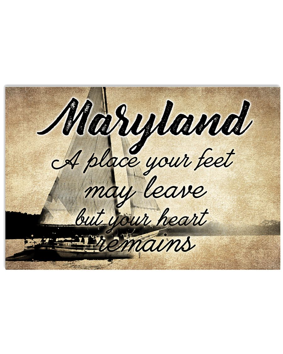 MARYLAND YOUR HEART REMAINS 24x16 Poster