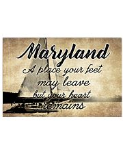 MARYLAND YOUR HEART REMAINS 24x16 Poster front