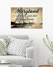 MARYLAND YOUR HEART REMAINS 24x16 Poster poster-landscape-24x16-lifestyle-01