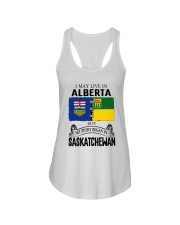 LIVE IN ALBERTA BEGAN IN SASKATCHEWAN ROOT WOMEN Ladies Flowy Tank thumbnail