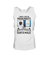 LIVE IN MASSACHUSETTS BEGAN IN GUATEMALA Unisex Tank thumbnail