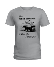 WEST VIRGINIA  I MISS YOU ALL THE TIME Ladies T-Shirt thumbnail