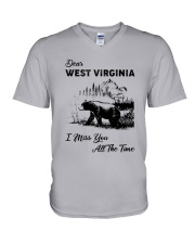 WEST VIRGINIA  I MISS YOU ALL THE TIME V-Neck T-Shirt thumbnail