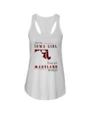 IOWA GIRL LIVING IN MARYLAND WORLD Ladies Flowy Tank thumbnail