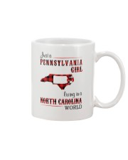 PENNSYLVANIA GIRL LIVING IN NORTH CAROLINA WORLD Mug tile