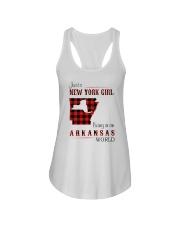 NEW YORK GIRL LIVING IN ARKANSAS WORLD Ladies Flowy Tank thumbnail
