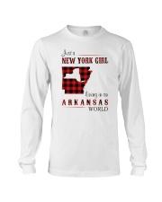 NEW YORK GIRL LIVING IN ARKANSAS WORLD Long Sleeve Tee thumbnail
