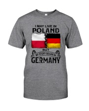 LIVE IN POLAND BEGAN IN GERMANY Classic T-Shirt tile
