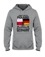 LIVE IN POLAND BEGAN IN GERMANY Hooded Sweatshirt thumbnail