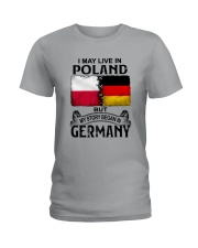 LIVE IN POLAND BEGAN IN GERMANY Ladies T-Shirt thumbnail